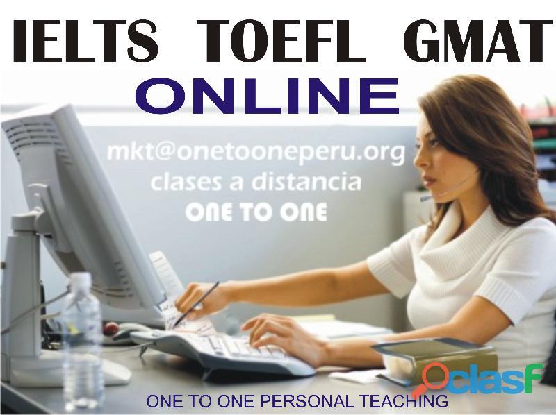 Toefl ielts online con profesor en persona
