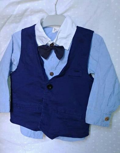 Terno Para Niño 2t Camisa Corbata Pantalón Chaleco