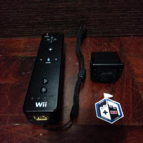 Nintendo Wii Remote Black Control Negro + Extra (cgs)