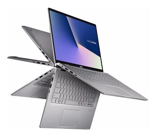 Laptop zenbook flip ryzen 5 14' full hd 512ssd 8g iluminado