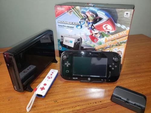 Nintendo Wii U Negro, Casi Nuevo. Con Mando Adicional