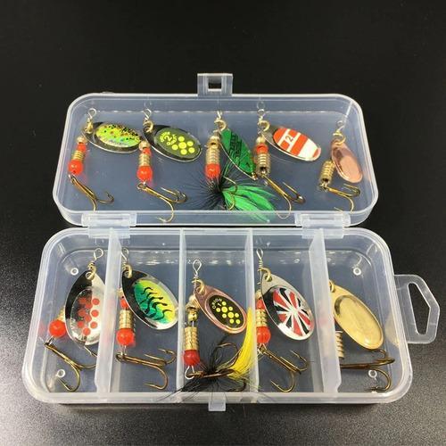 10 piezas señuelos mariposas anzuelo de pescar
