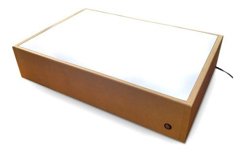 Mesa caja de luz led / montessori / dibujo arte diseño
