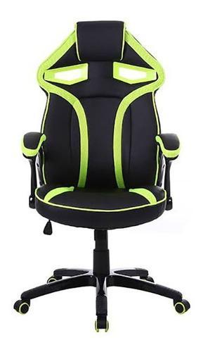 Silla gamer / youtuber ergo giratoria color verde / negro