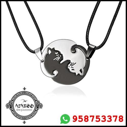 Araneo - Dije Doble Yin Yang Cat