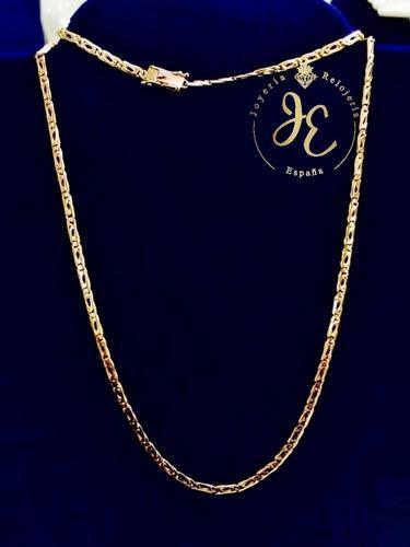 Cadena de oro ley 18k mónaco cc_46 hombre jespaña collar