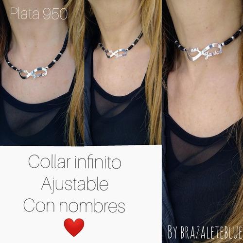Collar Infinito Con Nombres, Enamorados,novios, Parejas..