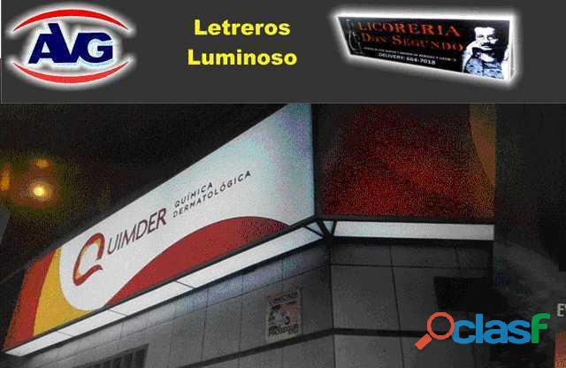 Avisos luminosos, letras corpóreas iluminadas lima perú letreros publicitarios