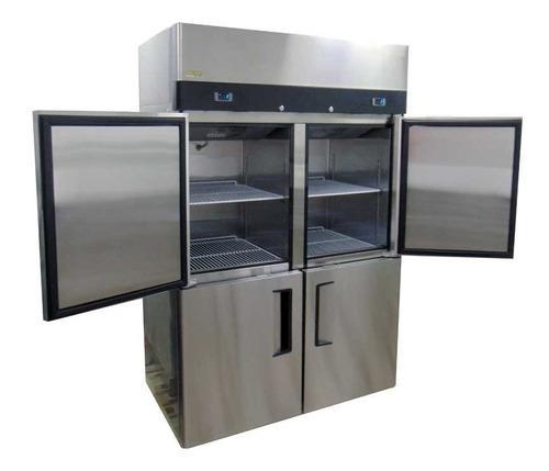 Congelador vertical de 4 puertas frigorífico mizar inoxchef