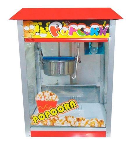 Maquina de canchita pop corn mizar inoxchef