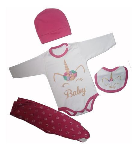Ajuar de bebe unicornio rosado ropa de bebes