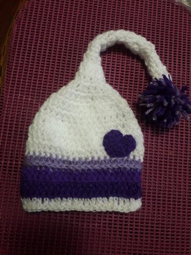 Gorros para bebes a crochet hecho a mano