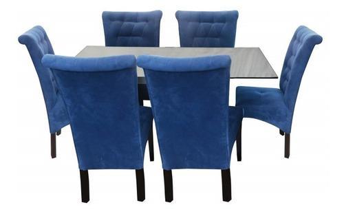 Juego comedor de 6 sillas arabe