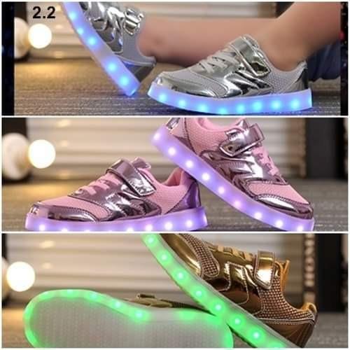 Navidad regalo zapatillas luces led recargables importados