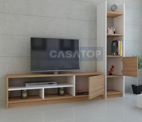 Centro de entretenimiento tv led 55 - 60 modelo roma