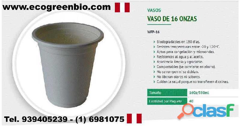 Vasos ecológicos biodegradables lima perú pueblo libre para alimentos con certificación fda