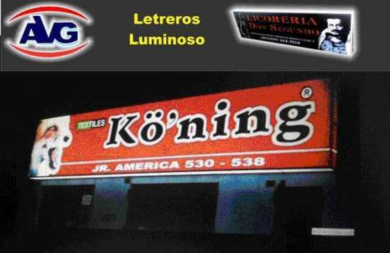 Avg especializados en letreros luminosos lima perú, logos,