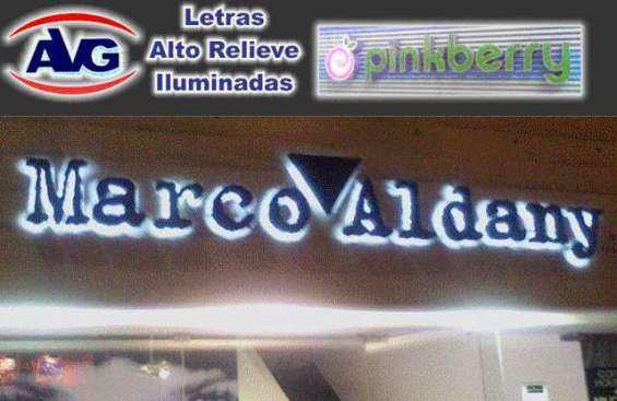 Letreros luminosos catalogo avg lima perú, logos, letras