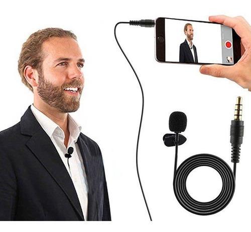Micrófono de solapa clip manos libres con cable