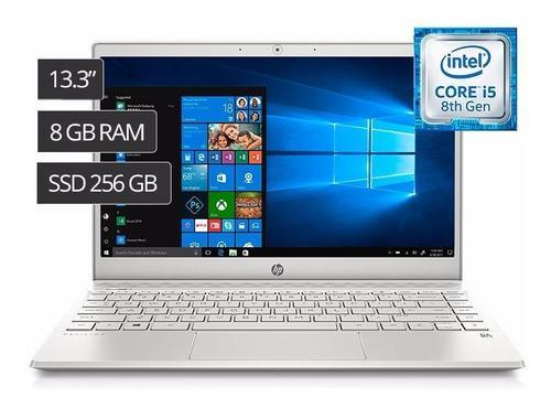 Laptop hp 13.3' i5 8va 8gb 256gb ssd iluminado l/huella w10