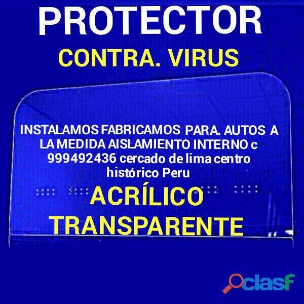 Protector contra virus. para fabricación y instalaciones lima peru