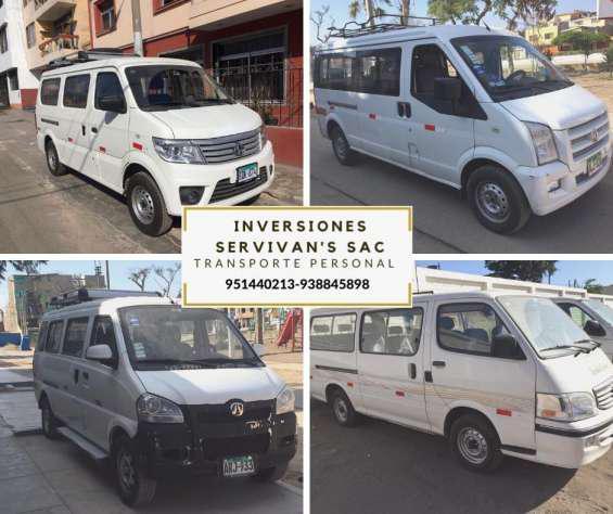 Servicio de transporte de personal