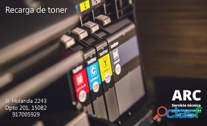 Arc servicio tecnico para impresoras hp y canon