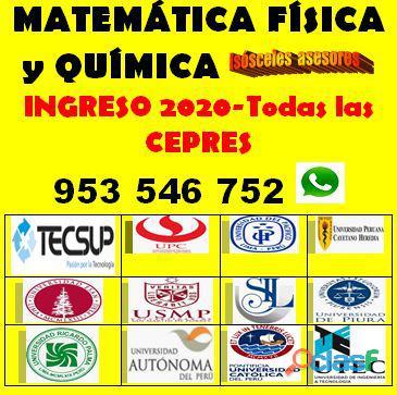 Clases gratis de matemática y ciencias(vía plataforma virtual),dirigido a postulantes a universidade