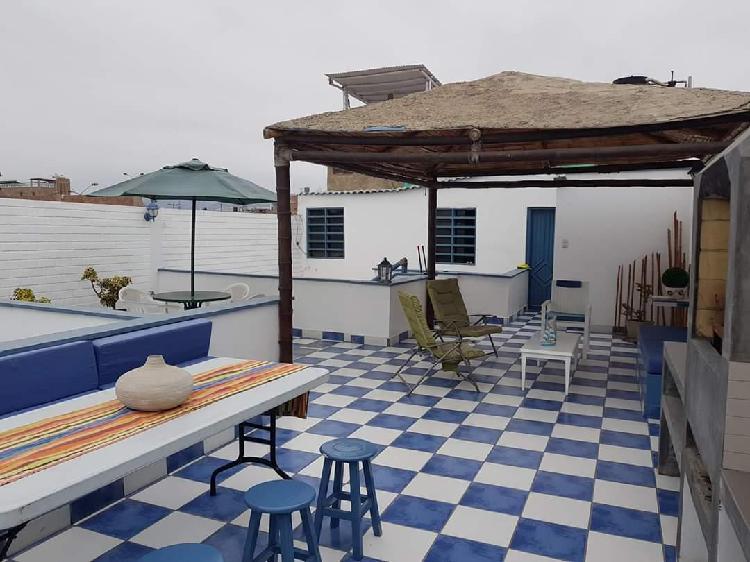 Amplia casa de playa en san bartolo alquiler por un año