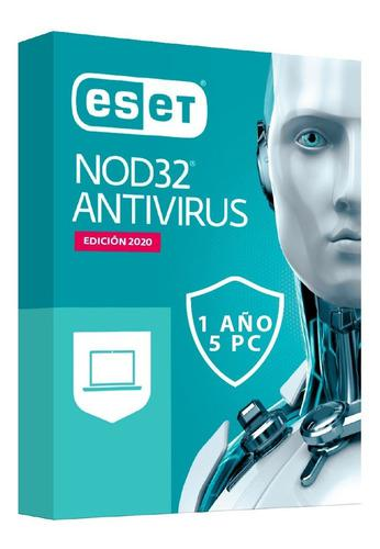 Antivirus eset nod32 2020 licencia original 1 año x5 pc