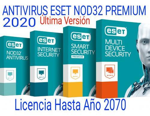 Antivirus eset nod32 50 años 3 equipos pc computadora