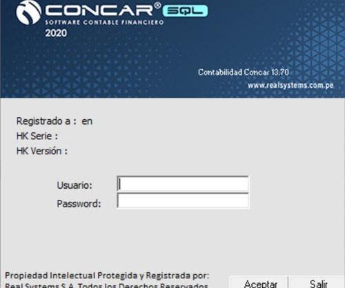 Concar sql 13.70 (2020) ultima version