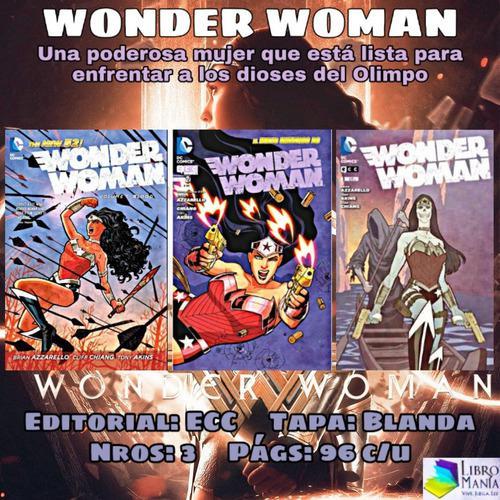 Wonder woman. mujer maravilla. 3 cómics ecc