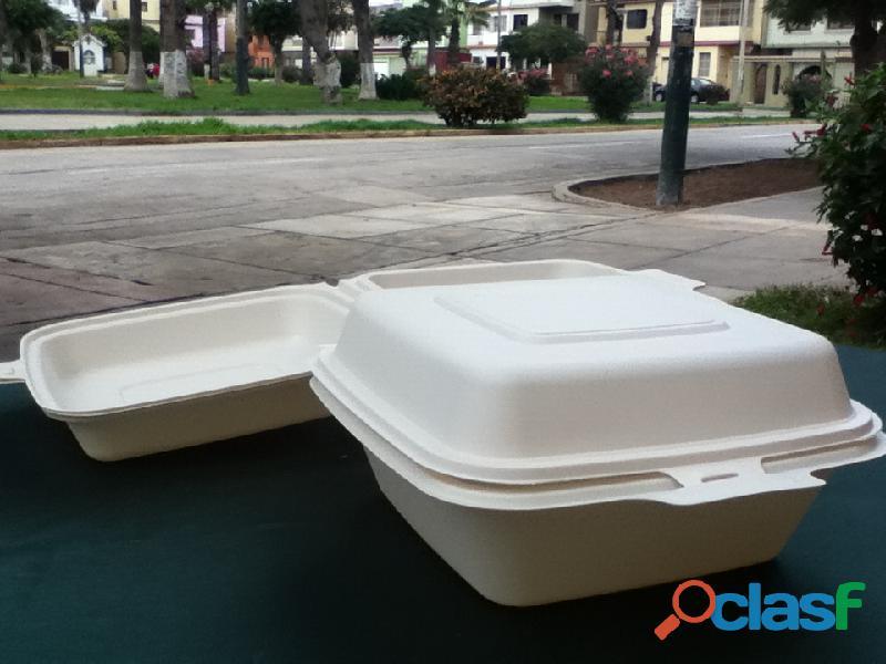 Biodegradables ecológicos para alimentos delivery Lima Perù PLATOS, BANDEJAS, BOWLS, CONTENEDORES