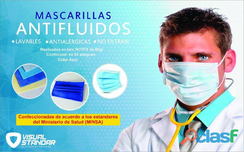 Mascarillas antifluidos