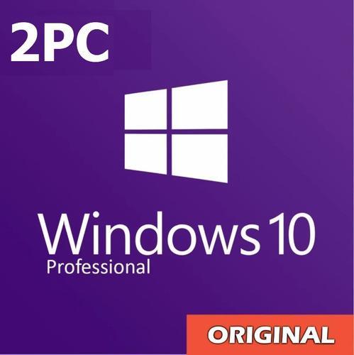 Licencia microsoft windows 10 pro original retail para 2 pc