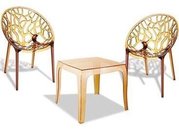 Lote 2 sillas de confidente y mesa cristy