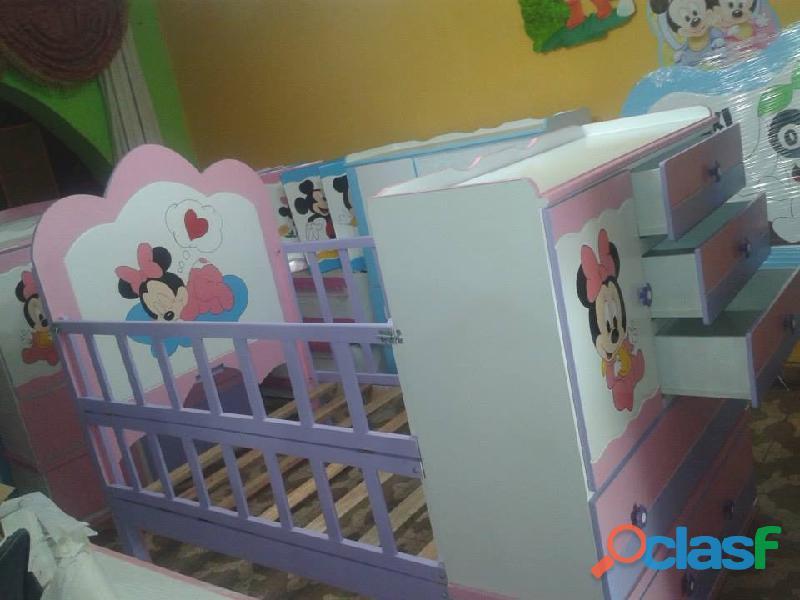 venta de cama cunas para niños y niñas 9