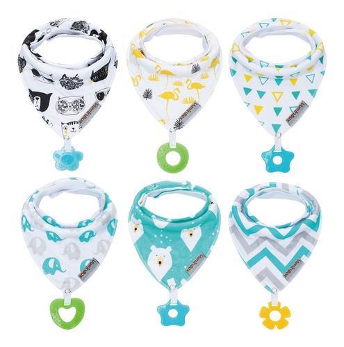 Baby bandana drool baberos y juguetes para la dentición h