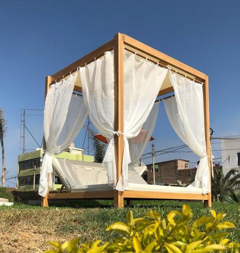 Muebles para terraza, playa y piscina, mesas, sombrillas