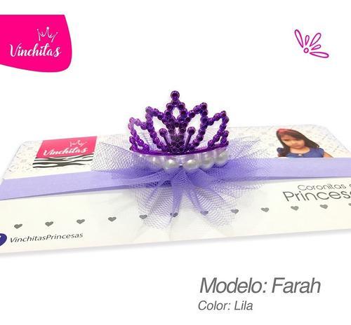Vincha de corona bebe princesa color lila