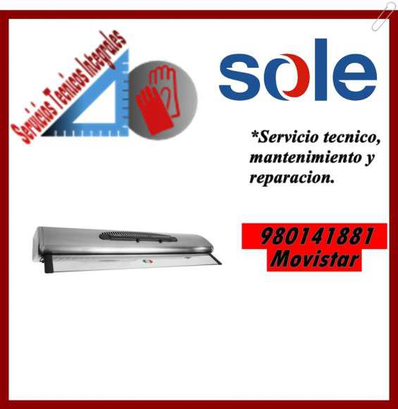 980141881 servicio tecnico para campanas extractoras sole
