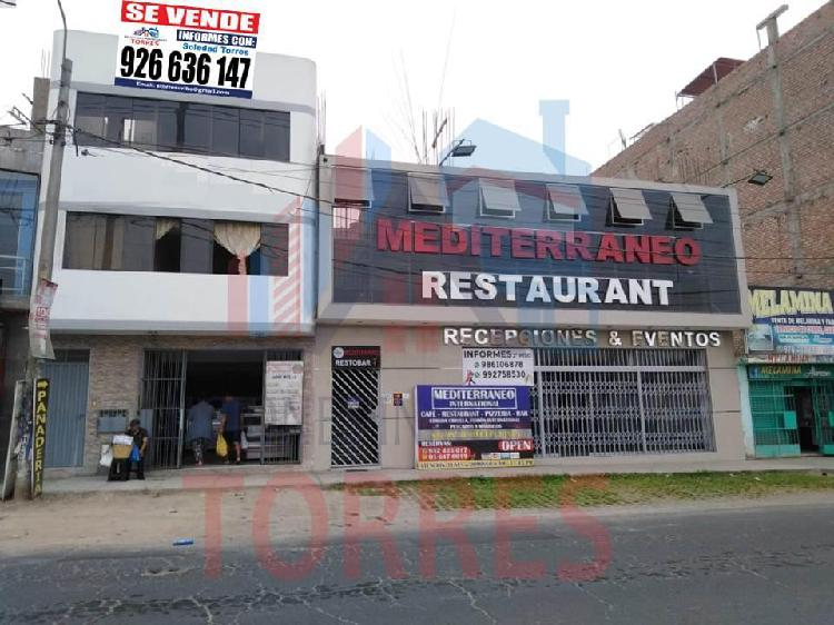 Local comercial con departamentos incluidos urb. santo