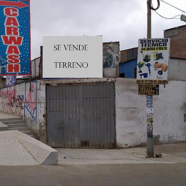 Venta de terreno comercial en villa maria del triunfo