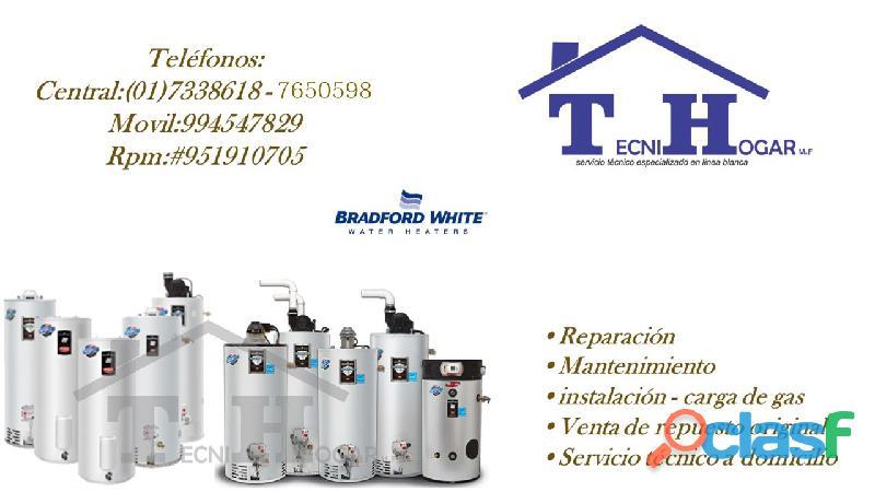Servicio técnico BRADFORD WHITE 7650598 mantenimiento