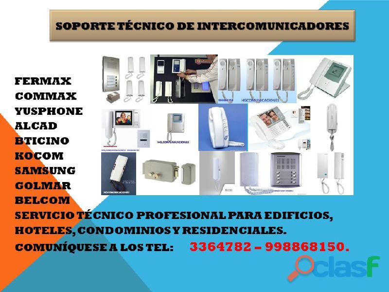 Servicio tecnico de intercomunicadores 998868150