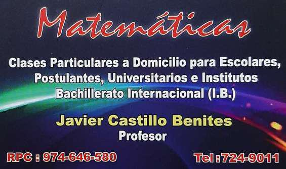 Clases online de matemátocas en Lima