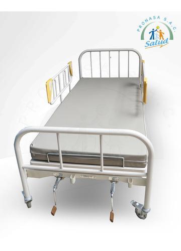 Cama clinica mecanica 02 manivelas, alquiler en lima