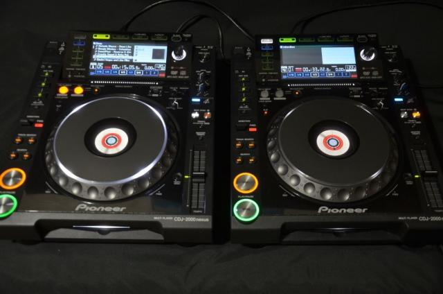 Pioneer dj set 2 x cdj-2000 nexus and nexus djm-2000