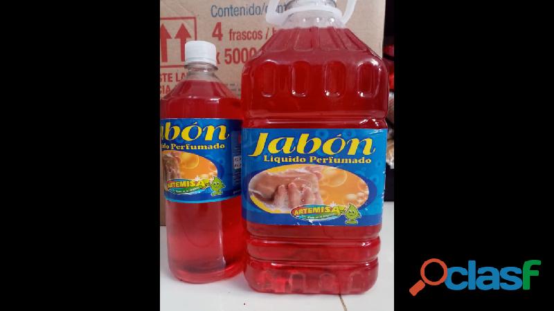 Jabon liquido perfumado 1 litro y galon de 3.5